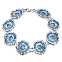 Brodgar Eye Enamelled Bracelet in Sterling Silver by Sheila Fleet Jewellery