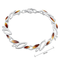 Seasons Sterling Silver Bracelet in Autumn Enamel by Sheila Fleet Jewellery