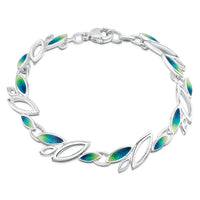 Seasons Sterling Silver Bracelet in Spring Enamel by Sheila Fleet Jewellery