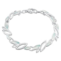 Seasons Sterling Silver Bracelet in Winter Enamel by Sheila Fleet Jewellery