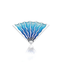 Ocean Enamel Brooch by Sheila Fleet Jewellery
