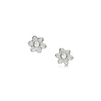 Diamond Daisies Petite Stud Earrings in Crystal Enamel by Sheila Fleet Jewellery