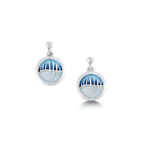 Skyran Enamel 'If' Drop Earrings in Sterling Silver by Sheila Fleet Jewellery