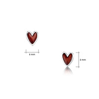 Secret Hearts Enamel Stud Earrings in Sterling Silver by Sheila Fleet Jewellery