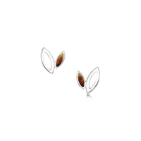 Seasons Silver Petite Stud Earrings in Autumn Enamel by Sheila Fleet Jewellery