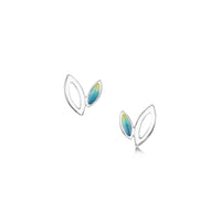 Seasons Silver Petite Stud Earrings in Summer Enamel by Sheila Fleet Jewellery