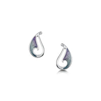 Mill Sands Enamelled Petite Stud Earrings in Sterling Silver