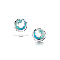Atlantic Breaker Petite Stud Earrings in Shallows Enamel