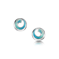 Atlantic Breaker Petite Stud Earrings in Shallows Enamel by Sheila Fleet Jewellery