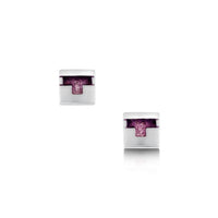 Castle Enamelled Small Stud Earrings in Sterling Silver