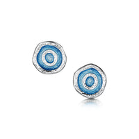 Brodgar Eye Enamelled Small Stud Earrings in Sterling Silver by Sheila Fleet Jewellery
