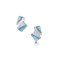 Flagstone Stud Earrings in Slate Enamel by Sheila Fleet Jewellery