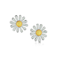 Daisies at Dawn Enamel Dress Stud Earrings by Sheila Fleet Jewellery