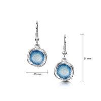 Lunar Sterling Silver Single Drop Enamel Earrings