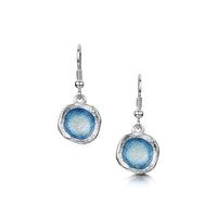 Lunar Sterling Silver Single Drop Enamel Earrings by Sheila Fleet Jewellery