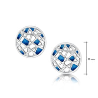 Creel Stud Earrings in Pentland Enamel