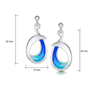 Sea & Surf Drop Earrings in Ocean Hue Enamel