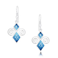 Skara Urn Enamel Drop Earrings in Sterling Silver by Sheila Fleet Jewellery