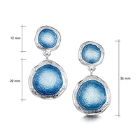 Lunar Sterling Silver Occasion Drop Enamel Earrings