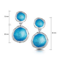 Lunar Bright Occasion Drop Earrings in Tropical Enamel