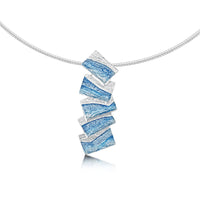 Flagstone Necklace in Slate Enamel by Sheila Fleet Jewellery
