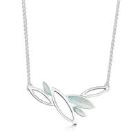Seasons Silver Necklace in Winter Enamel by Sheila Fleet Jewellery