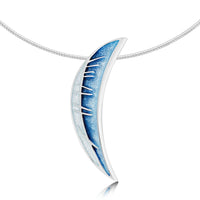 Skyran 'Moon' Enamel Dress Necklace in Sterling Silver by Sheila Fleet Jewellery