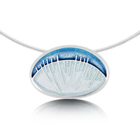 Skyran 'Heaven' Enamel Dress Necklace in Sterling Silver by Sheila Fleet Jewellery