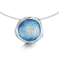 Lunar Sterling Silver Dress Enamel Necklace by Sheila Fleet Jewellery