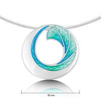 Atlantic Breaker Necklace in Shallows Enamel