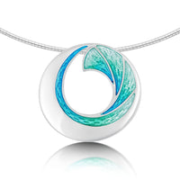 Atlantic Breaker Necklace in Shallows Enamel by Sheila Fleet Jewellery