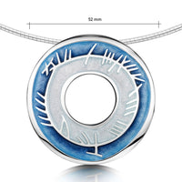 Skyran Enamel Occasion Necklace in Sterling Silver
