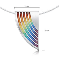 Rainbow Enamel Statement Necklace in Sterling Silver by Sheila Fleet Jewellery