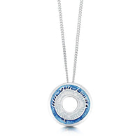 Skyran Small Enamelled Pendant Necklace in Sterling Silver by Sheila Fleet Jewellery