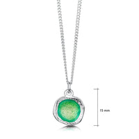 Lunar Bright Small Pendant in Spring Green Enamel