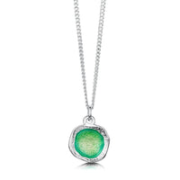 Lunar Bright Small Pendant in Spring Green Enamel by Sheila Fleet Jewellery