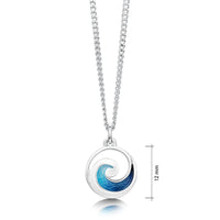 Pentland Enamelled Small Pendant Necklace in Sterling Silver