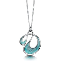Storm Small Enamel Pendant Necklace in Sterling Silver by Sheila Fleet Jewellery