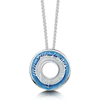 Skyran Enamel Pendant Necklace in Sterling Silver by Sheila Fleet Jewellery