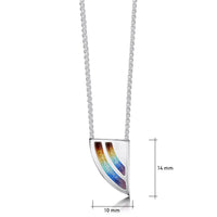 Rainbow Enamel Pendant Necklace in Sterling Silver