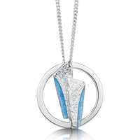 Stone Circles Enamel Pendant Necklace in Sterling Silver by Sheila Fleet Jewellery