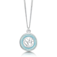 Creel Pool Pendant Necklace in Ice Enamel by Sheila Fleet Jewellery