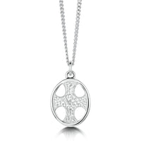 Cross of the Kirk Silver Pendant in Crystal Enamel by Sheila Fleet Jewellery