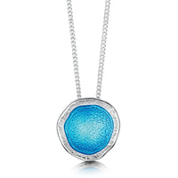 Lunar Bright Pendant Necklace in Tropical Enamel by Sheila Fleet Jewellery