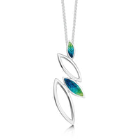 Seasons Silver Pendant Necklace in Spring Enamel by Sheila Fleet Jewellery