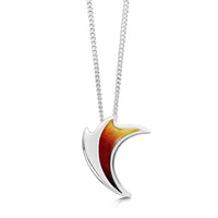 New Wave Silver Curve Pendant in Flame Enamel by Sheila Fleet Jewellery