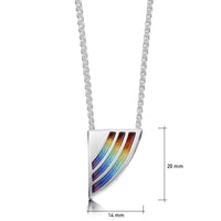 Rainbow Enamel Dress Pendant Necklace in Sterling Silver