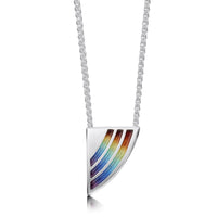 Rainbow Enamel Dress Pendant Necklace in Sterling Silver by Sheila Fleet Jewellery