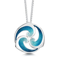 Breckon Dress Pendant Necklace in Sterling Silver by Sheila Fleet Jewellery