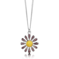 Coloured Daisies Small Pendant in Champagne Enamel by Sheila Fleet Jewellery